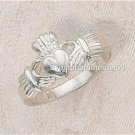 Silver Heart Claddagh Sterling Silver Ring Irish Catholic Courtship/Wedding 5-10
