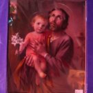 Picture Print Catholic St. Joseph and Baby Jesus 8x10 Cromo of  Italy