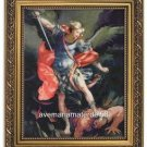 "Saint Michael by Reni Catholic 8"" x 10"" Print 11"" x 14"" Gold Frame Under Glass"