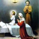 Catholic Picture Print Jesus Mary Joseph Holy Family by Cromo of Italy 8x10