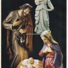 "Hand Painted Nativity Set Resin 3 Pieces Virgin Mary, Joseph, Baby Jesus 32""High"