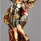 """Saint Michael Statue  Size:  14"""" High Resin Boxed Hand Painted Italy"""