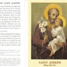 Saint Joseph Holy Card Lot with Prayer 10 Cards @ $2.00