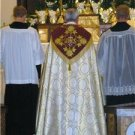 Gold Brocade Cope Vestment Satin Lined Trad Catholic Embroidered+Humeral Veil