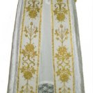 White Cope Vestment Satin Lined Traditional Catholic Embroidered+Humeral Veil