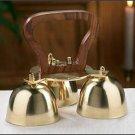 """Sanctuary Altar Bells Three Bells Brass and Wood 2.50""""W x 5""""H"""