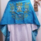 Marian Blue Humeral Veil Ave Maria Symbol Lilies Embroidered Lovely!