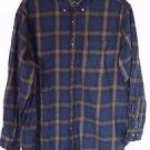 Men's Outdoor Life XL Blue & Black Plaid Long Sleeve Button Up Shirt
