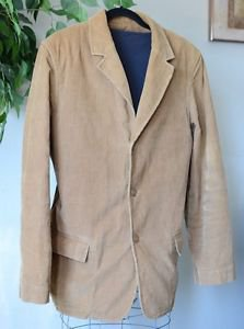 GAP Men's Brown 3 Button Blazer Lightweight Corduroy Jacket Size Large L