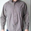 Van Heusen Long Sleeve Wrinkle Free Plaid Medium Men's Dress Shirt 15-15 1/2