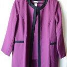 Blair Women's 3 Piece Pant Suit Size 18 NWOT Purple & Black