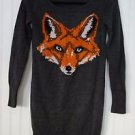 Xhilaration Women's Dark Gray Grey Fox Tunic Sweater XS Long Sleeve