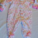 Sandy & Simon 0-3 Month Sleeper 100% Cotton One Piece Long Sleeve Floral