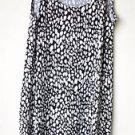Notations Medium Animal Print Black White Sleeveless Pullover Dress