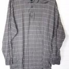 Men's Belle Golf Long Sleeve Polo Shirt Brown Mercerized Cotton EUC