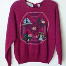 Northern Isles Hand Embroidered Copyrighted Design Women's Sweater M Medium