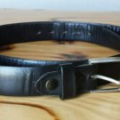 Styled For Paris by Nicholas di Giovanni Top Grain Cowhide Black Leather Belt 36