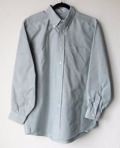 LL Bean Mens Long Sleeve Button Up Cotton Dress Shirt 16 - 33 Pale Green