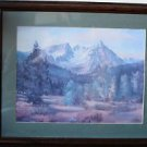 Montana Art Print Limited Edition, L. Wetzsteon Matted & Framed, Numbered Signed