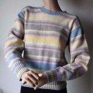 Dexter Simon Crewneck Womens Long Sleeve Striped Sweater 60% Shetland Wool M USA