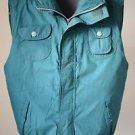 Threads Unlimited Men's Large Zip Up Pocketed Vest Green