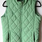 Jason Maxwell Puff Quilted Polyester Vest Green Lined Small Zip Front
