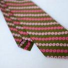 Vintage Funky 70's Terylene Polyester Fashion Craft Neck Tie Green Pink EUC
