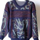 Vintage Cambio Men's 80's Wool Blend Crewneck Sweater S Small Made in Italy