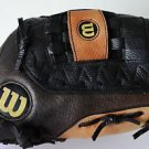 "Wilson 12"" Pro Flexback Top Grade Black Brown Leather RH Thrower Baseball Glove"
