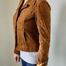Womens Brown Floral Christopher Banks Corduroy S Jacket Button Up Fitted Stretch
