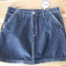 Pash Women's Small 5 Pocket Black Denim Jean Mini Skirt Zipper Detail Goth