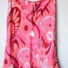 Jonathan Martin Studio Womens Lined Skirt Med Pink White Ruffle Flare Below Knee