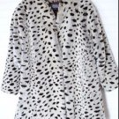 Le Nouveau Faux Fur Animal Print Thick Warm Coat Lined Made in USA Women's Small