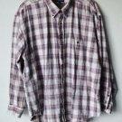 Van Heusen Khaki Classics Mens XL Long Sleeve Button Up Plaid Cotton Shirt  EUC