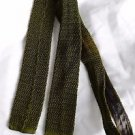 Men's Vintage Silk Woven Self Tie Bow Tie Olive Green