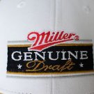 Miller Genuine Draft Snapback Baseball Hat Cap Mesh Back Black White Beer Brown