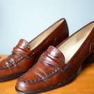 Women's Brown Rangoni Leather Shoes 9.5 B Made in Italy 9.5 Low Heel Loafer Pump