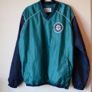 MLB Genuine Men Blue Seattle Mariners Windbreaker Water Repel Jacket Side Zip XL