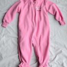 Disney 18 Month Girl Pink Long Sleeve One Piece Micro Fleece Footed Sleeper