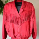 Vintage Bogari Silk Coat Jacket Button Up Western Cowgirl Fringe Pink Dressy EUC