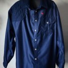 Gary Nesse Ultimatewear Vented Hunting Shooting Shirt Made In USA XL EUC Blue
