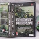 Tom Clancy's Ghost Recon PS2 Sony PlayStation 2 Game Disc & Case