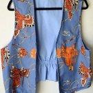 Womens Handmade Western Theme Vest, Saddles Spurs Rope, Unique! Med EUC
