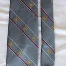 The President Grey, White, Red, Gold, Striped, Silk Blend, Mens Vintage Tie USA
