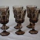 Well Made Heavy Duty Excellent Condition Set of 6 Stemmed Goblets Water Glasses