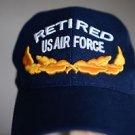 Nonstop Retired Airforce Men's Adjustable Snap Back Trucker Baseball Hat Cap