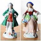 Vintage 1945 - 1952 Occupied Japan Figurines Man & Woman Pair Porcelain
