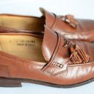 Johnston & Murphy 9 Leather Tassel Penny Loafer Slip On Dress Shoe Brown Italy