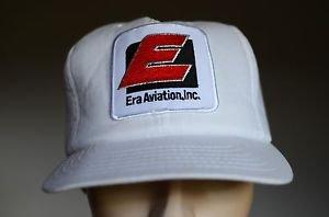 Era Aviation Inc Vintage White Snap Back Adjustable USA Made Pilot Trucker Hat