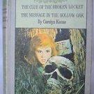 VTG 1970's Nancy Drew Twin Thriller Book Club Edition 2 Stories Rare Keene